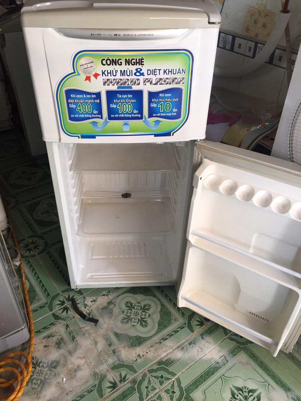 Tủ Lạnh Cũ Sanyo 120l Ngoại Hình Còn Mới 89%