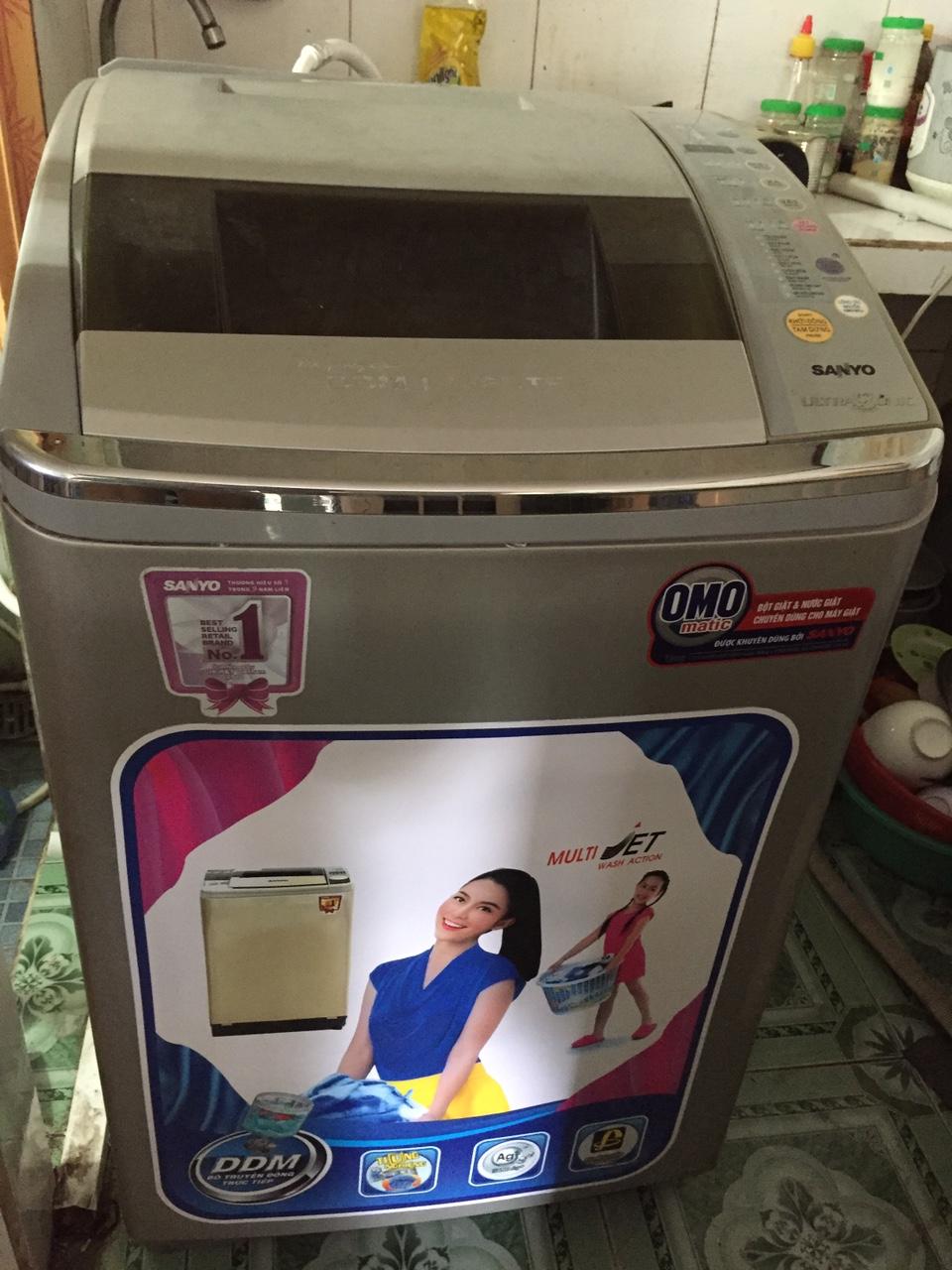 Máy Giặt Cũ Sanyo Inverter 9kg 96%-1