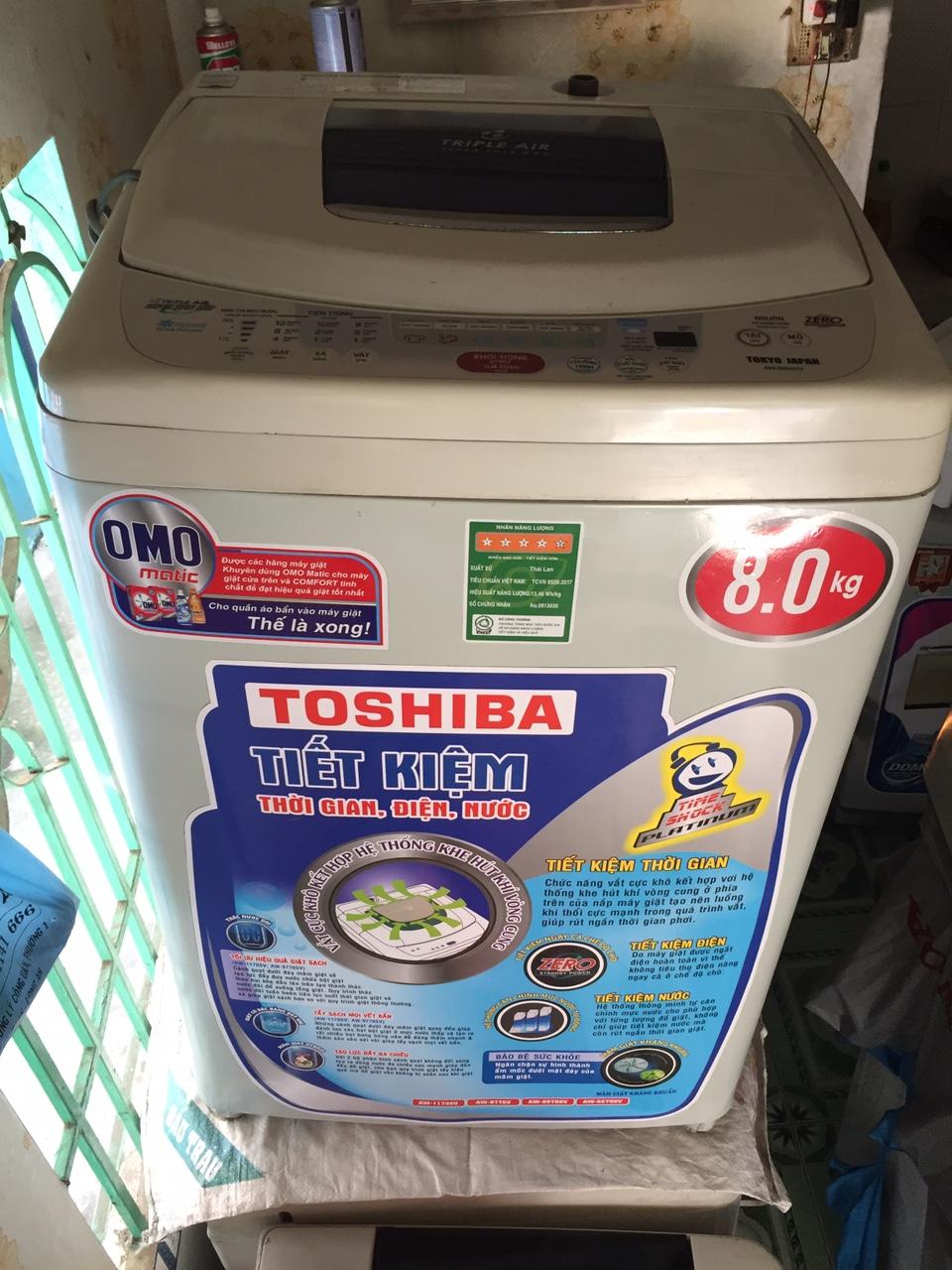 Máy Giặt Cũ Toshiba 8kg Ngoại Hình Mới 90%-1