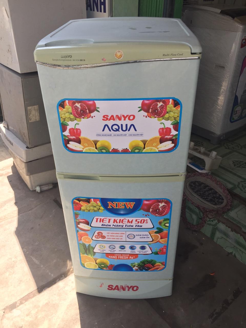 Tủ Lạnh Cũ Sanyo 120L 95%-1